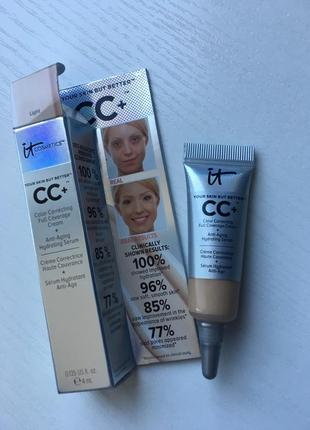 Cc + крем от it cosmetics