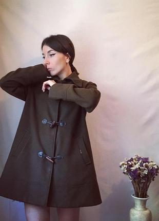 Пальто хакки, пальто осенее, пальто трапеция