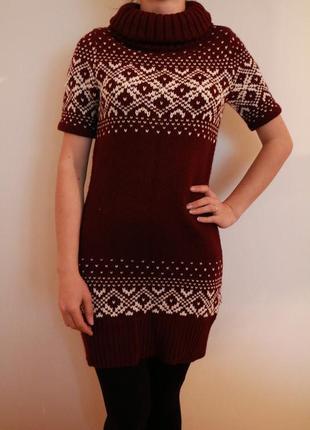 Плаття туніка вязаные платье clockhouse 100% акрил