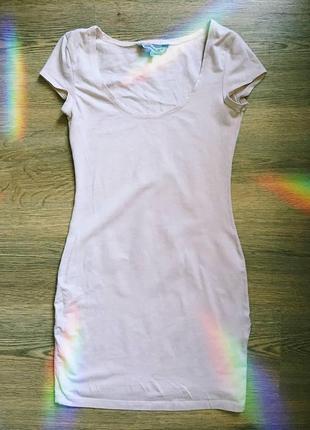 Платье короткое обтягивающее