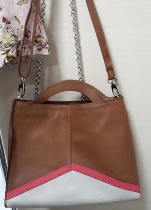 4d0a604bf418 Фирменная кожаная#шкіряна сумка#кроссбоди,100% натуральная кожа, франция.