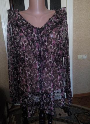 Блузка женская, блуза удобная, р. 16 -20  ( 52- 56)