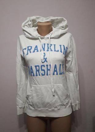 Толстовка белая с капюшоном franklin & marshall италия