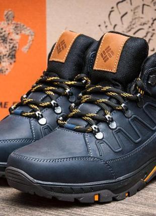 Ботинки кожаные зимние columbia nubuck denim