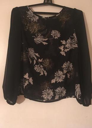 Шифоновая блуза, блузка, рубашка