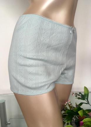 Шортики шорты для дома сна трикотаж голубые м
