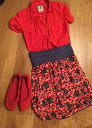 Оригинальная яркая юбка