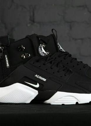 41 42 43 44 45 мужские осенние зимние кроссовки ботинки nike huarache  winter acrum black 864188faead