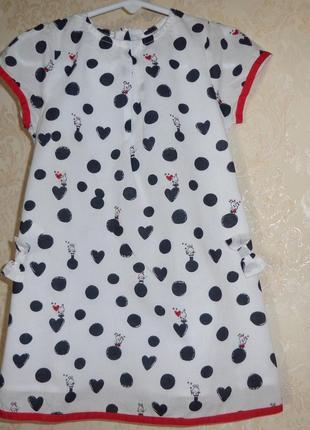 Платье котончик на котоновой подкладке, 2 года,