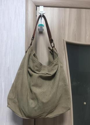 Замшевая сумка vera pelle
