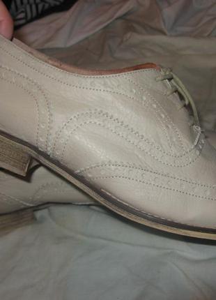 Туфли оксфорды натуральная кожа clarks оригинал размер 39 по стельке 25.5 см
