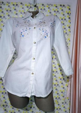 Рубашка  с вышивкой honor millburn ewm