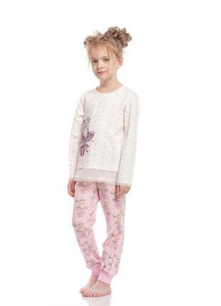 Очаровательная, стильная пижама р122 для девочки с балеринкой ellen.