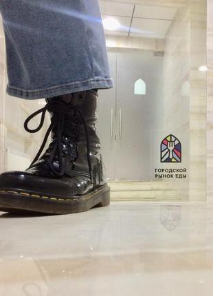 Чёрные ботинки dr. martens