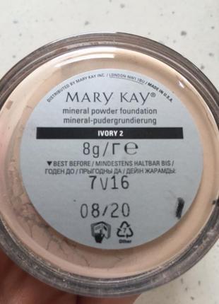 Пудра минеральная мінеральна пудра мері кей