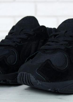 Черные мужские кроссовки adidas yung 1 41 42 43 44 45 рр