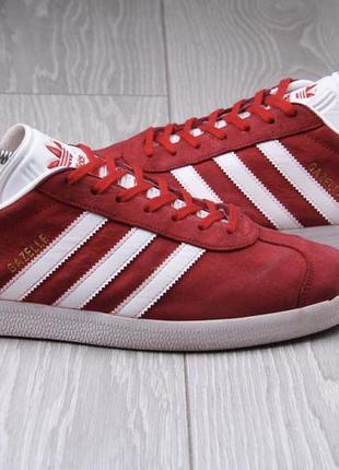 Кроссовки adidas gazelle красные оригинал размер 47 замшевые (95,97)