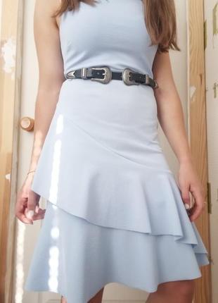 Нежное платье с оборкой от new look