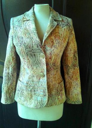 Катоновый  пиджак из тисненной ткани, м- l.