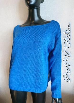 Яркий осенний свитер с шерстью