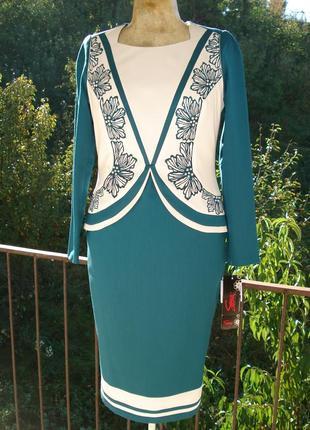 Элегантное платье цвета морской волны. размер 50 украинский.