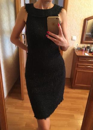 Платье с бахромой на подкладке zara