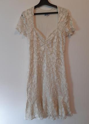 Короткое платье из эластичного кружева марки zack london