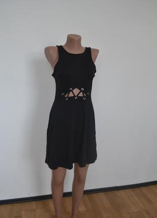 Платье со шнуровкой h&m, s