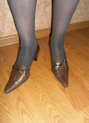 Изысканные миниатюрные туфельки/нат.кожа/ 23-23,5см/размер 3 1/2+подарочек