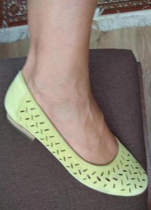 Дуже класні туфлі, балєтки, натуральна замша