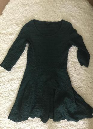 Зелёное короткое платье