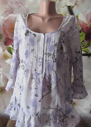 Красивая блуза(100%котон)-пог54см.