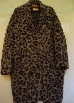 Леопардове пальто бойфренд zara