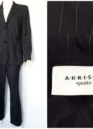 Akris punto italy строгий в тонкую полоску деловой костюм