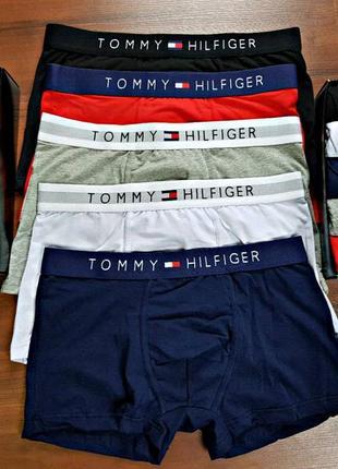 Набор мужских боксеров tommy hilfiger в коробке 5 шт3 фото