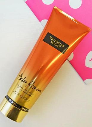 Увлажняющий парфюмированный лосьон для тела amber romance от victoria's secret