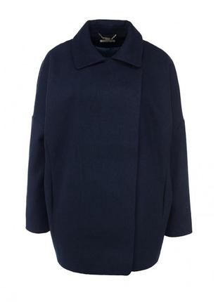 Женское темно-синее пальто от zarina