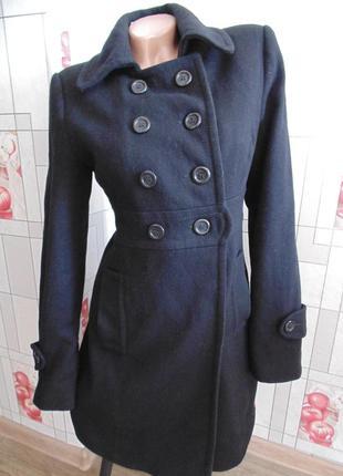 Приталенное шерстяное пальто edc by esprit