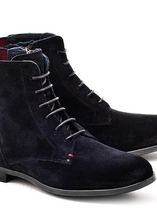Осенние замшевые ботинки tommy hilfiger размер 36