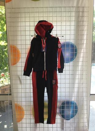 Стильный трикотажный спортивный костюм для девочек на рост 116,122,128,134;