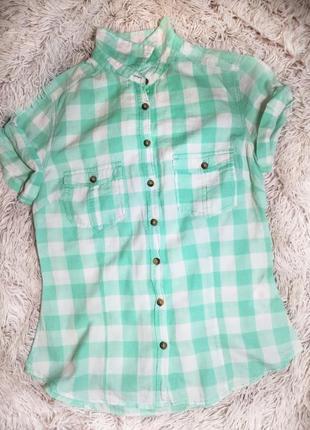 Рубашка с коротким рукавом h&m xc - c
