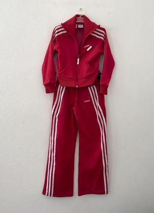 Спортивный костюм adidas красный/ спортивные штаны adidas красные