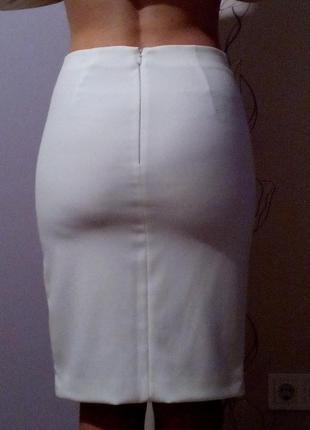 Юбка белая манго