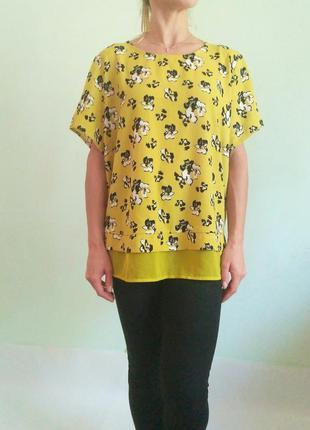 Невероятная блуза с шифоновой вставкой