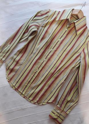 Etro milano италия оригинал! люкс бренд новая рубашка#сорочка#блуза в полоску, р. м.