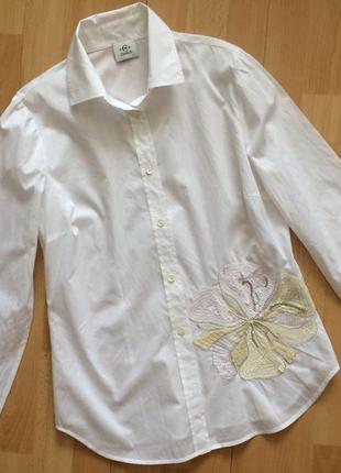 Невероятной красоты рубашка блузка с пайетками cerruti