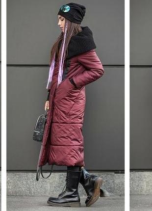 Стильный плащ,парка,длинное пальто ,с объемным воротником ...с,м,л..