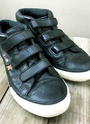 Кожанные кроссовки-кеды converse