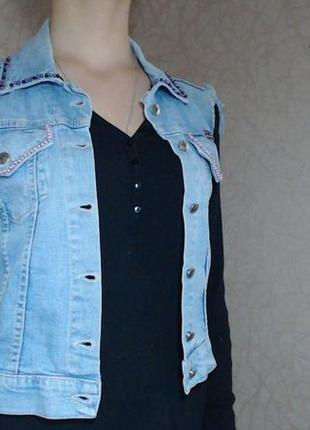 Джинсовый жилет женский джинсовая жилетка женская