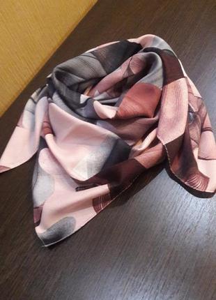 👑красивенный шерстяной (80%)платок пудра графит